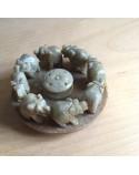 Räucherstäbchenhalter aus Speckstein ELEFANT